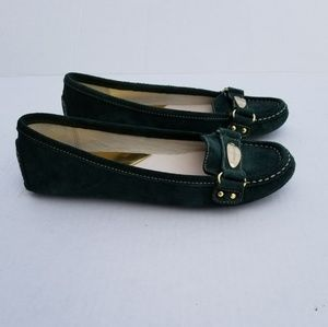 Michael Kors Suede Driver Loafer Flats Green 7.5